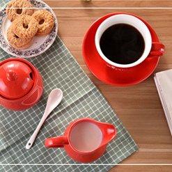 Ceramic Colorful Creamer Sugar Set
