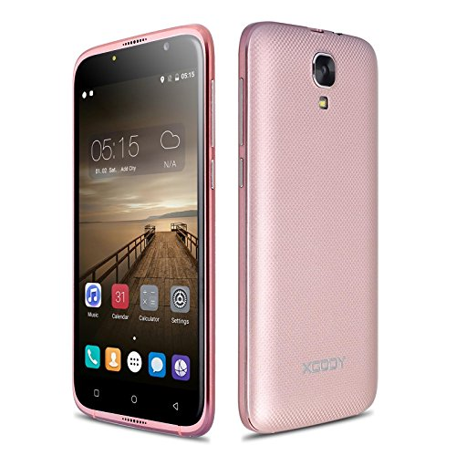 Xgody X19 5.0 Inch Cell Phones Unlocked Android 6.0 Marshmallow 720/1280 Pixels HD screen ROM 8GB MTK6580 Quad Core Dual Sim Dual Camera WIFI GPS (Rose Gold)