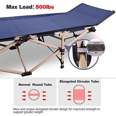 REDCAMP-Folding-Camping-Cots-for-Adults-Heavy-Duty-28-33-Extra-Wide-Sturdy-Portable-Sleeping-Cot-for-Camp-Office-Use-Blue-Gray-Green