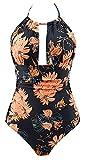 B2prity Women's One Piece Swimwear Backless Tummy Control Monokini Swimsuits