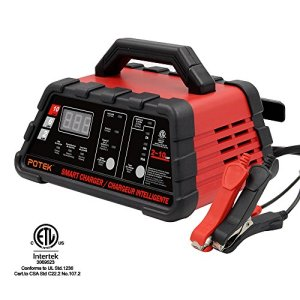 POTEK High Speed Smart Car Battery Charger for All 12V Batteries