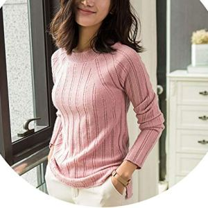 world-palm New Women's 100% Cashmere Sweater Pullovers Female O-Neck Long Sleeve Knitted Sweater