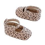 Carter's Girls' Carter'r Baby Soft Sole Flats 9 Crib Shoe, Leopard Print/Brown/Black/Tan, 9-12 Months Regular US Infant