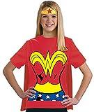 Rubie's Playera de la Liga de la Justicia de la Mujer Maravilla para niños, 100% algodón, Un Solo Color, Large