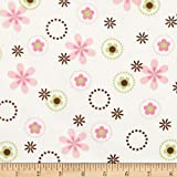 Cozy Cotton Flannel Multi Floral Garden Fabric By The Yard