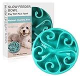 Slow Feeder Bowl, Siensync(TM) Fun Feeder Interactive Bloat Stop Dog Bowl, Eco-friendly Durable Non Toxic Bamboo Fiber Slow Feed Dog Bowl