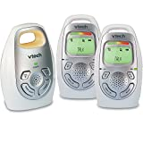 VTech DM223-2 Audio Baby Monitor with Two Parent Units, Up to 1, 000 ft of Range, Vibrating Sound-Alert, Talk-Back Intercom, Digitized Transmission & Belt Clip