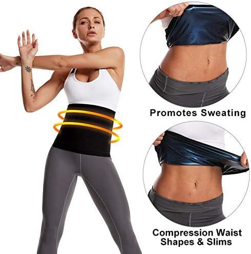 Nigecue Waist Trimmer for Women, Waist Trainer Sweat Workout Shaper, Sauna Belt 5