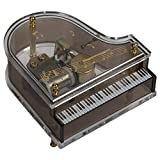 Splendid Music Box Co. Clear Acrylic Baby Grand Piano Musical Figurine Plays Tune Love Story