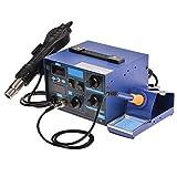 Wakrays 2in1 862D + SMD Soldering Iron Rework Station Hot Air Gun + Tip + 4 Nozzles Heat Gun Holder Welder