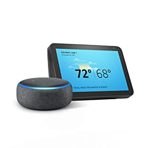 Echo Show 8 (Charcoal) with Echo Dot (Charcoal)
