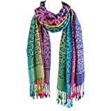 Because I Like It Women's Ombre Celtic Scarf Wrap - Rainbow Colored Shawl