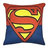 VIPbuy Comic Superhero Cotton Linen Decorative Square Throw Pillow Case Sofa Waist Cushion Cover 18 x18 inches (Superman)