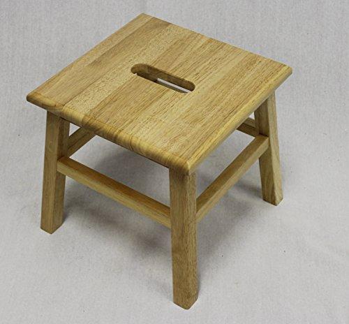 eHemco Hardwood Footstool in Natural-12