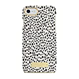 Sugar Paper Cell Phone Case for iPhone 7 - Mini Leopard Dot Black/Ivory Leather