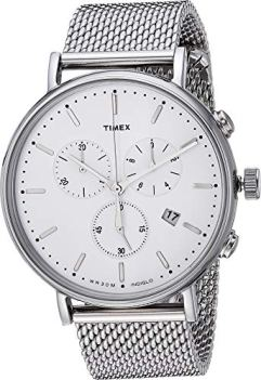 Timex Fairfield Chrono Mesh Silver/White One Size