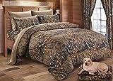 Regal Comfort The Woods Hunter Camo Comforter Natural Brown - King 104 x 94