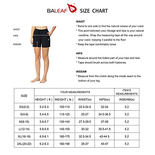 "Baleaf Women's 5"" Activewear Yoga Lounge Shorts with Pockets 6 Fashion Online Shop gifts for her gifts for him womens full figure"