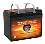 VMAX857 AGM Battery 12 Volt 35AH Marine Deep Cycle HI Performance Battery ideal for boats and 18-35lb minn kota, minnkota, cobra, sevylor and other trolling motor (12V 35AH, GROUP U1)