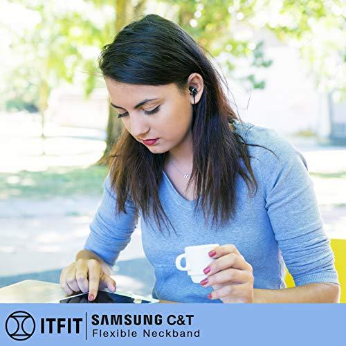 Samsung C&T ITFIT Bluetooth Wireless Earphone with Flexible Neck Band and handsfree Mic (GP-OAU019SABBI, Black) 5