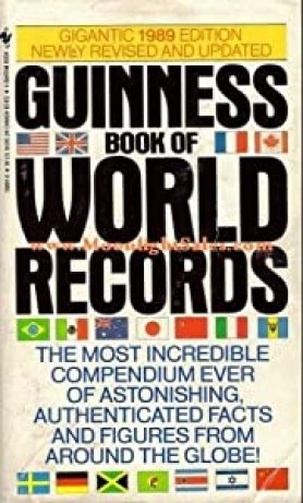 Mass Market Paperback Guinness Book of World Records 1989 Book