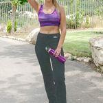 Straight leg cotton yoga pants