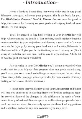 DIETMINDER Personal Food & Fitness Journal (A Food and Exercise Diary) 5