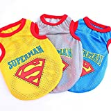 Superman Shirt Pet Clothes for Dog Cat Puppy Shirt Summer Vest Dogs T-Shirt (XL, Blue)