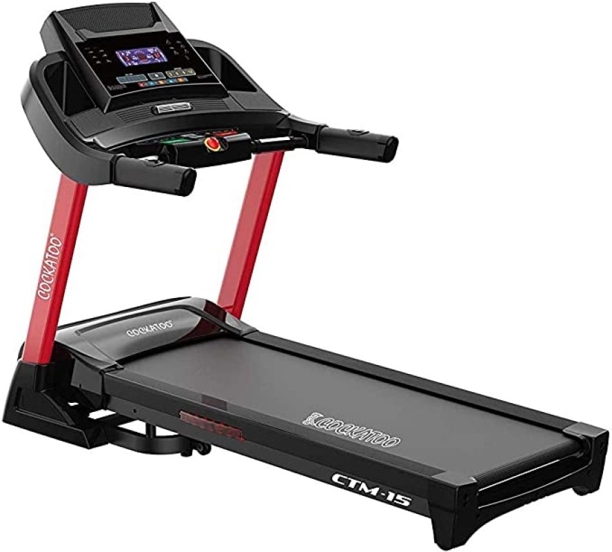Buy Cockatoo CTM-15 4 HP -6 HP Peak DC Motorized Treadmill with Auto  Incline Up to 16%, Max User Weight 130 Kgs, Max Speed 20Km/hr(Free  Installation Assistance) Online at Low Prices in India - Amazon.in