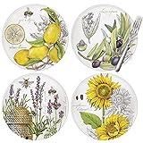 Mary Lake-Thompson Botanical 8-inch Melamine Plates, Set of 4