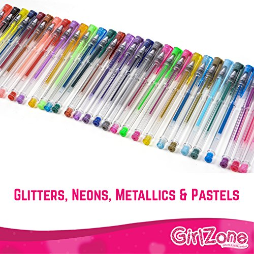 GEL PENS GIFTS FOR GIRLS: 30 Pieces, Ideal Arts & Crafts Gift For ...