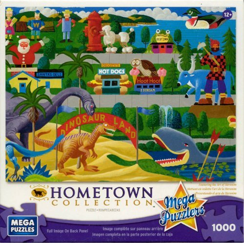 Mega Puzzles: Hometown Collection 1000 piece Roadside Icons Puzzle