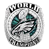 Zoga Philadelphia Eagles Ring, Super Bowl LII World Foles and Wentz Championship Replica (11, Foles)