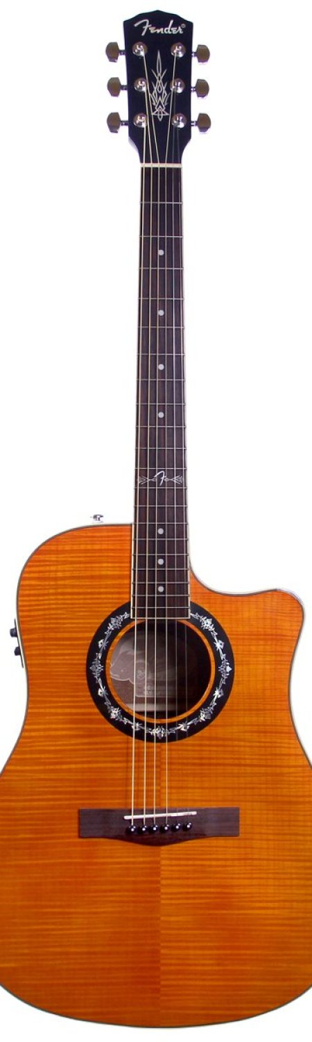 Fender T-Bucket 300CE Dreadnought Cutaway Flame Maple Acoustic-Electric Guitar