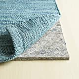 RUGPADUSA, 8'x10', 1/2' Thick, Basics 100% Felt Rug Pad, Available in Multiple Thicknesses, Adds Cushion and Floor Protection Under Rugs, Safe for all Floors and Finishes