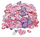 500 Colorful FUNKY HEART VALENTINE'S Day Foam STICKER SHAPES/Scrapbooking SUPPLIES/Self Adhesive/Arts/Crafts ACTIVITY/Love