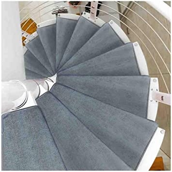 Amazon Com Stair Treads Carpet Turn Right Non Slip Spiral Stair   Mink Carpet On Stairs   Design   Step   Grey   Open Plan   Taupe Painted