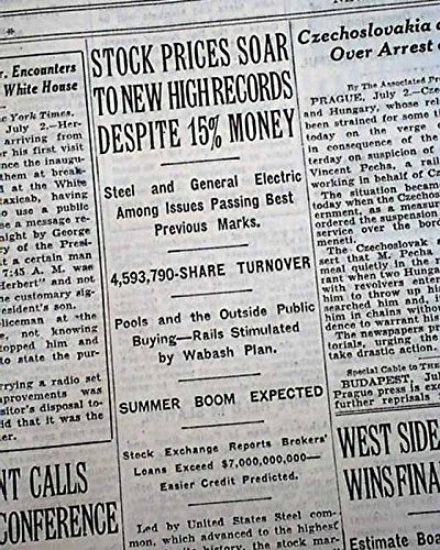 Image result for roaring 20s stock market