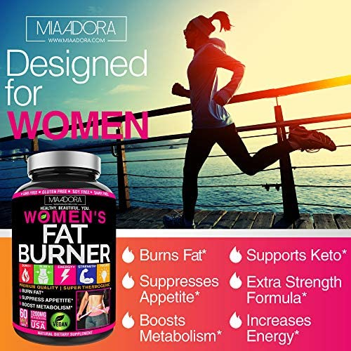 Women's Fat Burner Pills for Fast Weight Loss [Super Thermogenic] Best Natural Diet Pills, Metabolism Booster & Appetite Suppressant Supplement, Carb Blocker, Extra Strength & Energy, Vegan, 60 Caps 5