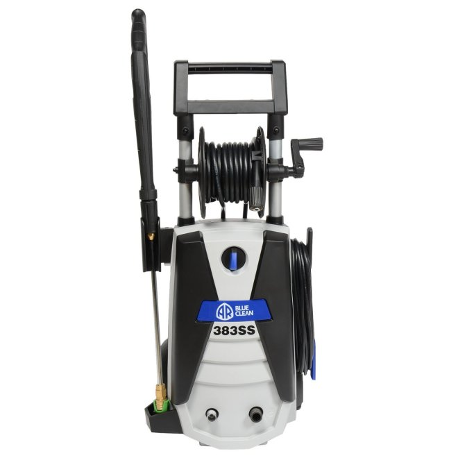 AR Blue Clean AR383SS 1,900 PSI Electric Pressure Washer, w/4 Nozzles, Wand, 30' Hose