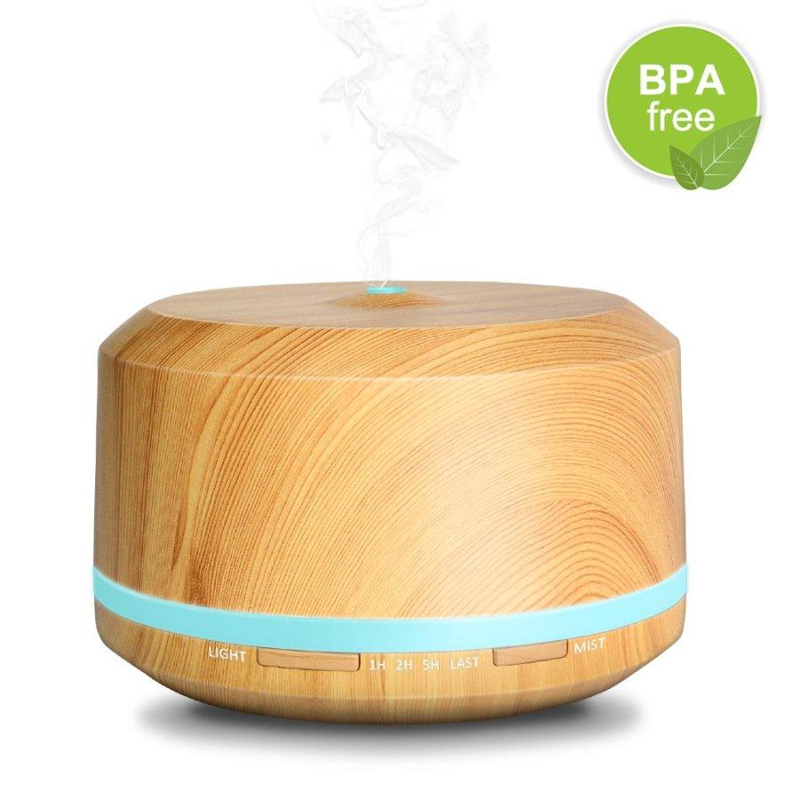 Diffuseur d'Huile Essentielle en bois de 450ml ultrasonique