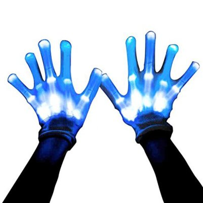 MAGIFIRE Led Skeleton Gloves, 12 Color Changeable Light Up Shows Halloween Costume