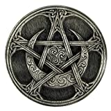 Pewter Moon Pentacle Altar Tile