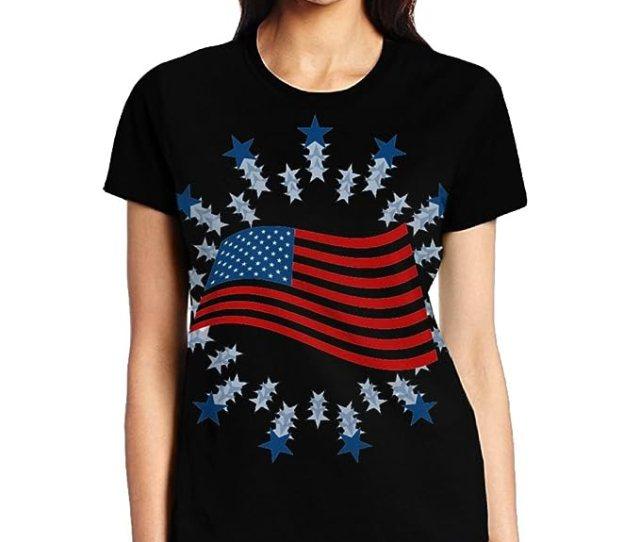 Amazon Com Womens Cute T Shirt July 4th Day Junior Tops Teen Girls Graphic Tees Clothing