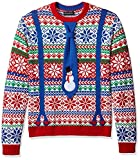 Blizzard Bay Men's Ugly Christmas Sweater Costume, Red/Blue, Large