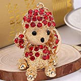 GoldLock Missxiang 2018 Cute Dog DIY Keychains Key Rings Creative Kids Toys Dog Cartoon Dog Keychains for Women Men Car Bag Pendant (3)