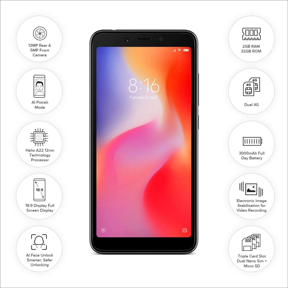 REDMI 6A with Specifications