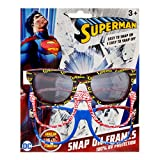 DC Comics Superman Kids Children Boys Sunglasses with 100% UV Protection Sunglasses with Snap-On Frames