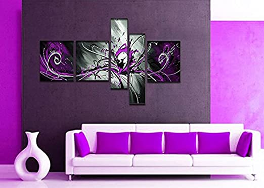 Cute Black Wall Decor : Inspiring cute and trendy purple wall art home