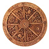 Dryad Design Wheel of The Year Plaque Wood Finish